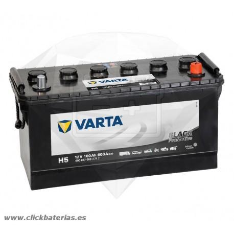 Batería de camión y vehículo industrial Varta Promotive Black H5 100 Ah