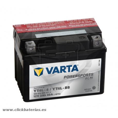 Batería de moto Varta Powersports AGM 50314 YT4L-BS