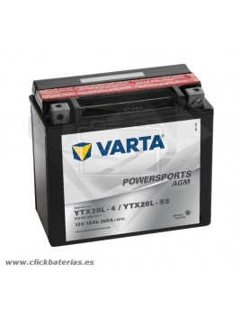 Bateria Varta Powersports AGM 51801 - YTX20L-BS