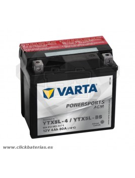 Batería de moto Varta Powersports AGM 50412 YTX5L-BS