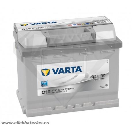 Bateria Varta D15 Silver Dynamic 63 Ah